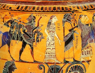 Αποτέλεσμα εικόνας για Ο μύθος του Πηλέα και της Θέτιδας και ο γάμος τους.